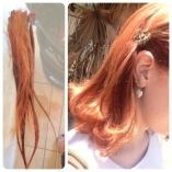 um palmo de cabelo